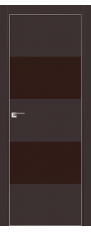 Door 10E Dark brown, brown lacquer