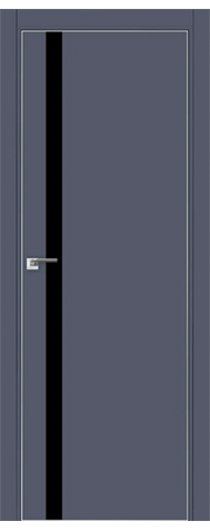 Door 6E Anthracite, black lacquer