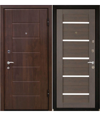 Door Metalur M7, gray meringa, white glass