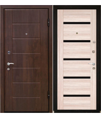 Door Metalur M7, cappuccino meling, black glass
