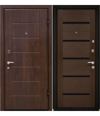Door Metalur M7, wenge malinga, black glass